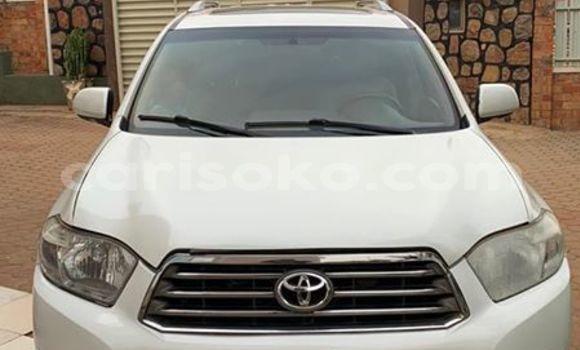 Buy Used Toyota Highlander White Car in Kigali in Rwanda