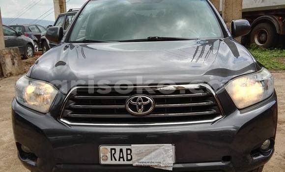 Buy New Toyota Highlander Black Car in Gicumbi in Rwanda